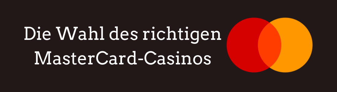 Jedes seriöse Online Casino wird MasterCard in den Bankoptionen anbieten